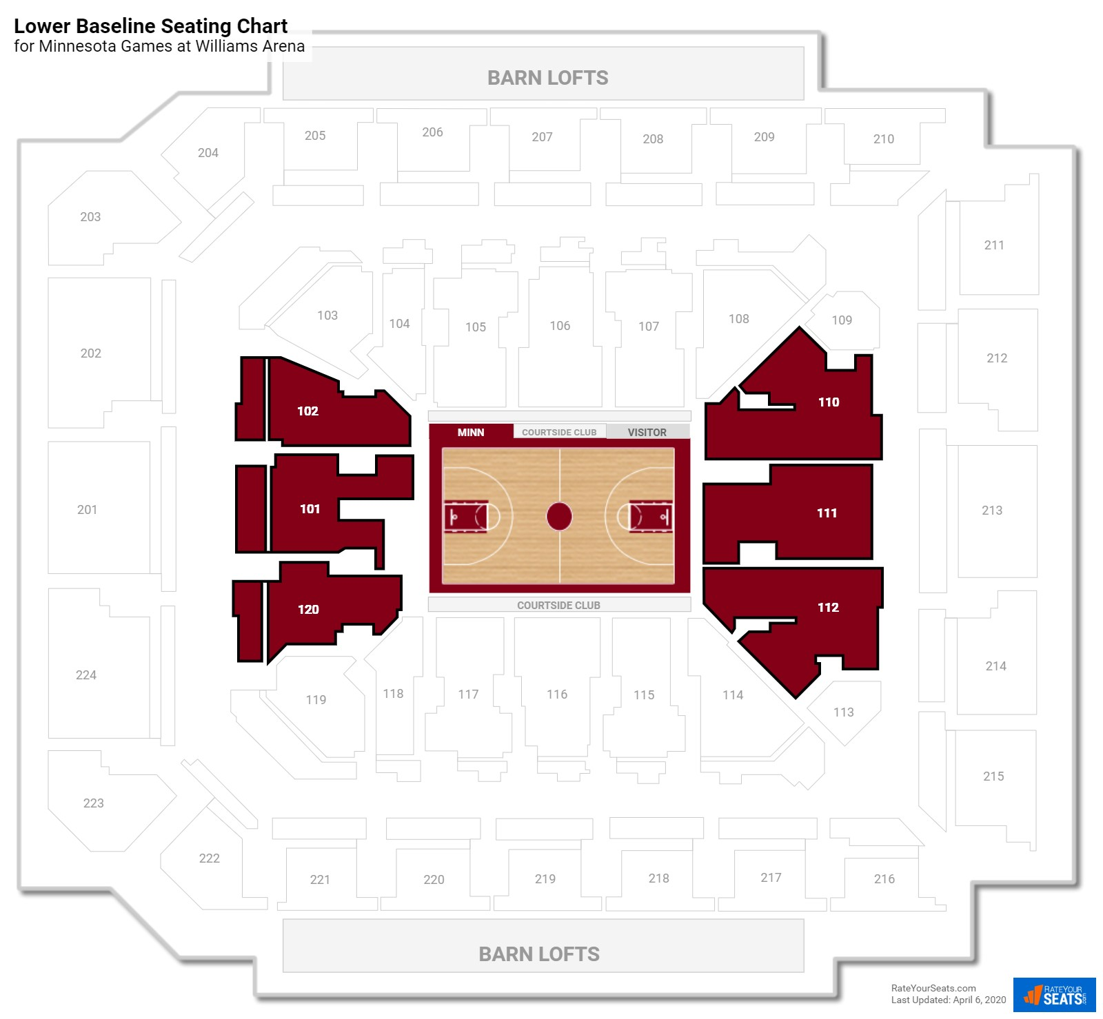 Williams Arena Seating Chart Obstructed View