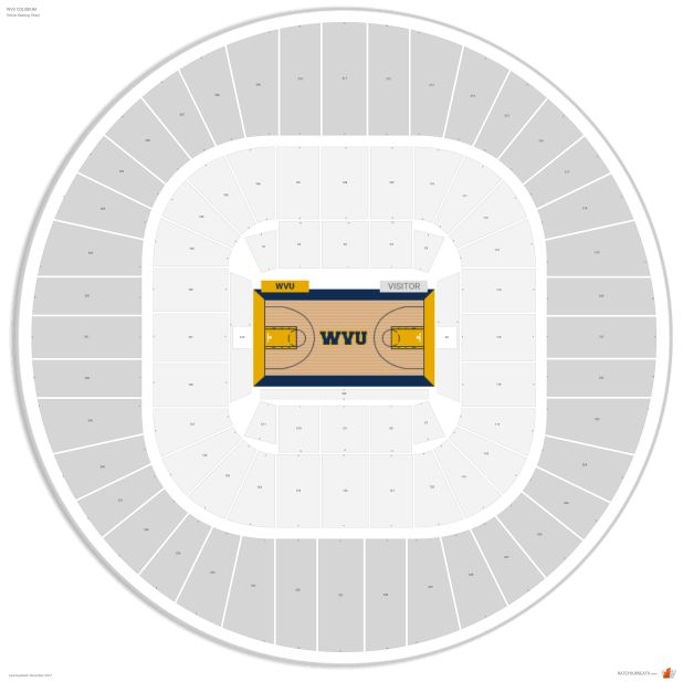 Wvu Coliseum Seating Chart With Row Numbers