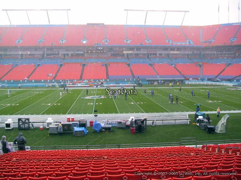 Hard Rock Stadium Section 118 Miami Dolphins