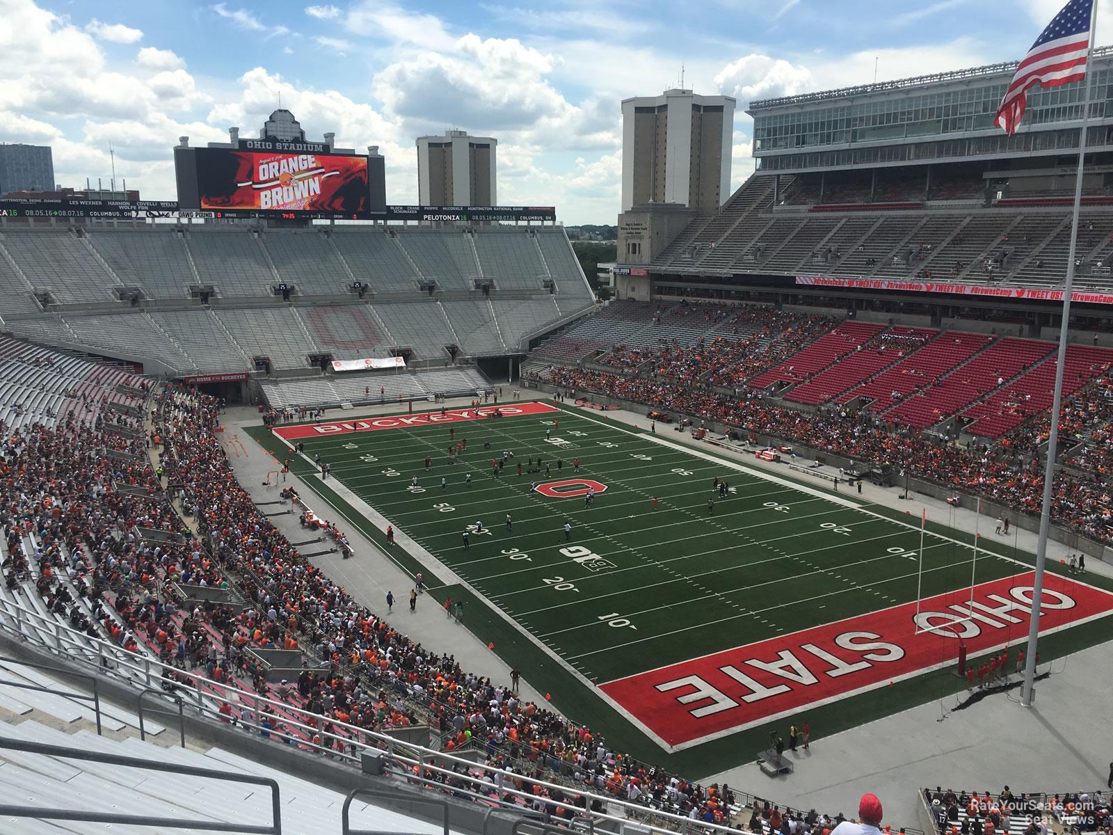 Seating Stadium Ohio View Chart