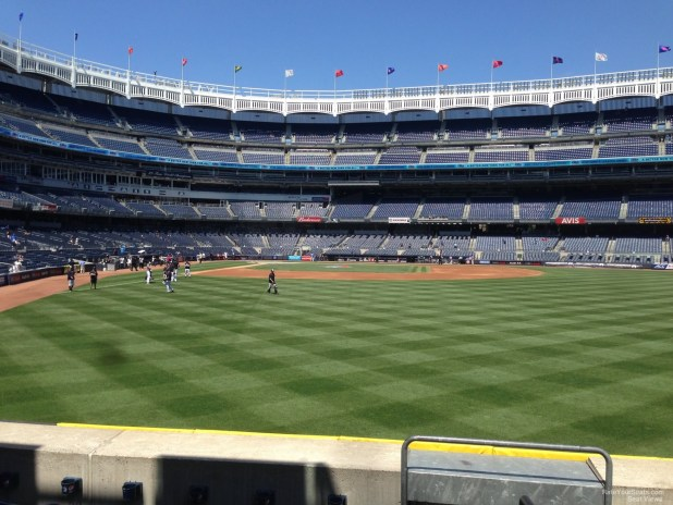 New York Yankees Seat View For Yankee Stadium Section 105