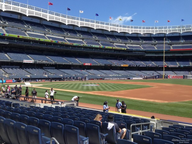 New York Yankees Seat View For Yankee Stadium Section 114a