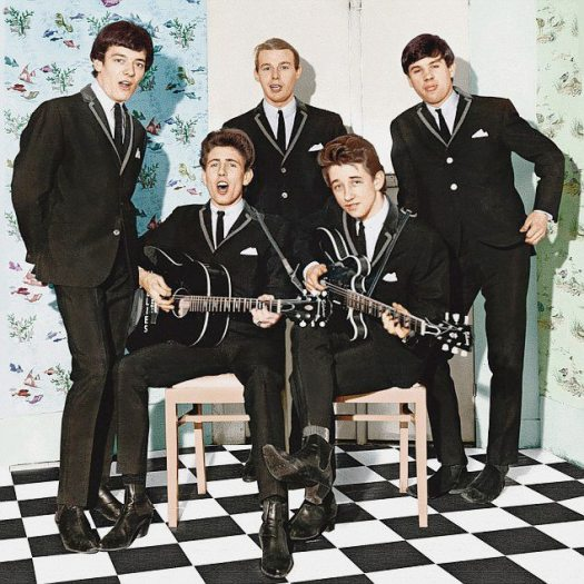 Hollies are from Manchester: color photo of the Hollies in 1964.