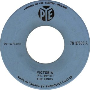 Arthur album: blue label stock copy of VICTORIA single on Pye Canada.