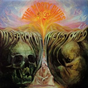 Bloody Rock: cover of the Moody Blues' IN SEARCH OF THE LOST CHORD album.
