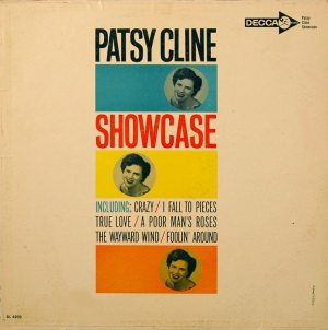 Hyperbolic Exaggeration: front cover of Patsy Cline's second album SHOWCASE from 1961.