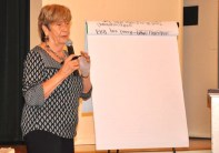 Nancy Glowacki, co-director of RATIFY ERA-NC, led discussions on strategy.