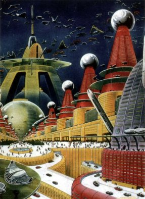 Retro future city