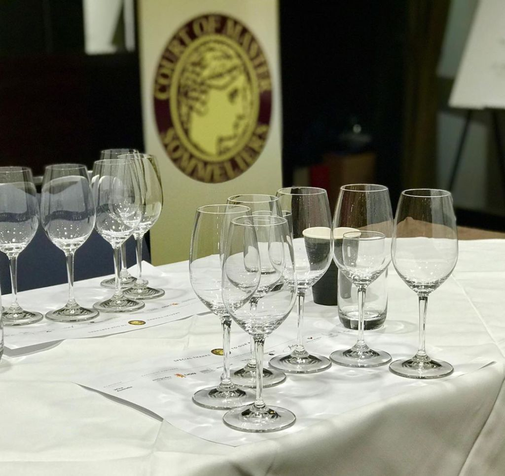 Blind Tasting. Photo by Court of Master Sommeliers EU.