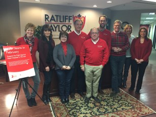 February we wore jeans and donated to the AHA Go Red For Women Campaign