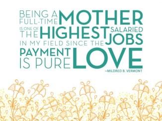 Gaji Ibu Penuh Waktu adalah Cinta