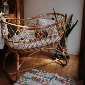 amore rattan bassinet with august the baby