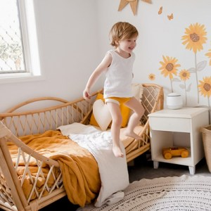 august toddler rattan bed