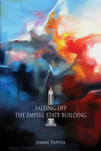 cover of Falling off the Empire State Building, a white figure falling off a building