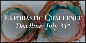 Ekphrastic Challenge, deadline at the end of the month, abstract alcohol ink painting of two swirling circles