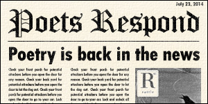 Poets Respond logo, poetry is back in the news