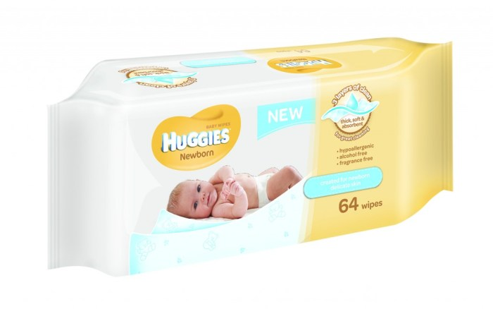 20885 Huggies PURE wipes 64's pack shots 3D high res