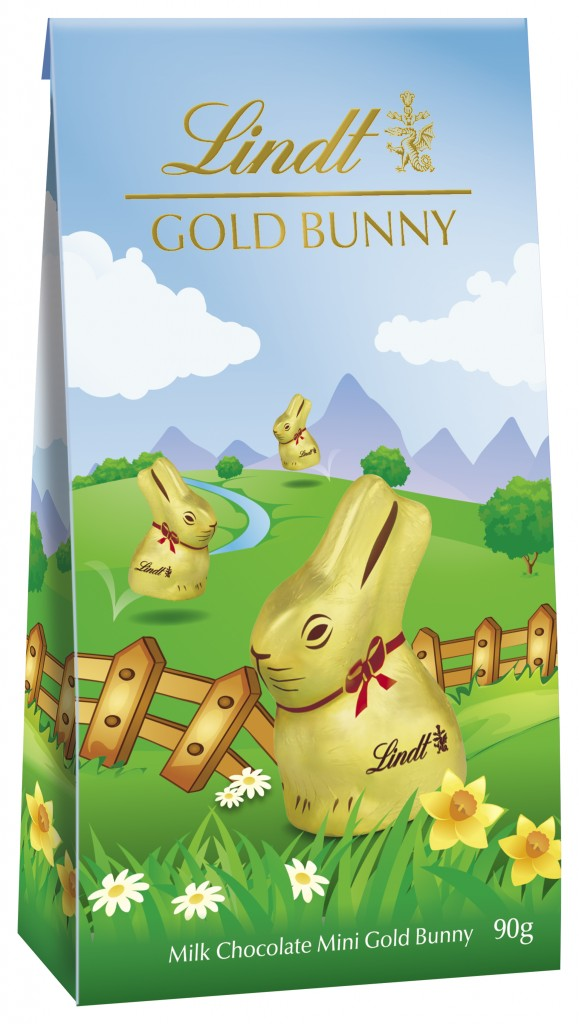 LINDT GOLD BUNNY Pouch Bag 90g - Recommended RSP R69.99