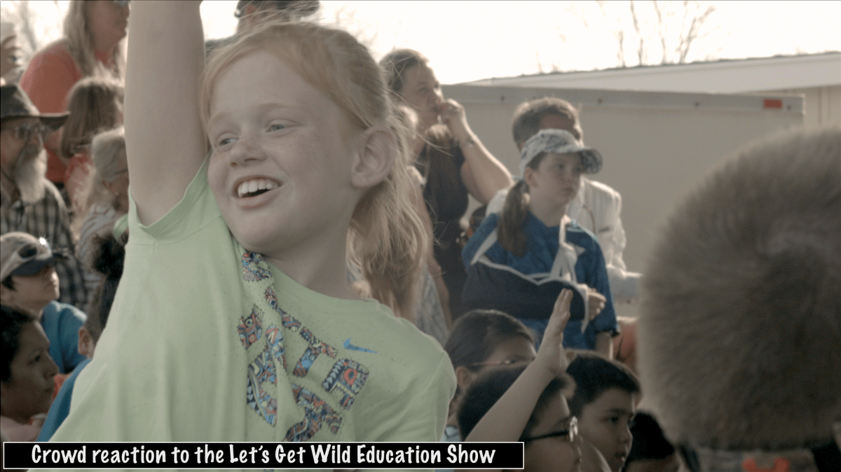 Crowd reaction to the Lets Get Wild Education Show