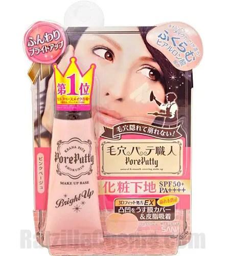 Noevir Group SANA Pore Putty Make Up Base Bright Up, a Japanese makeup base