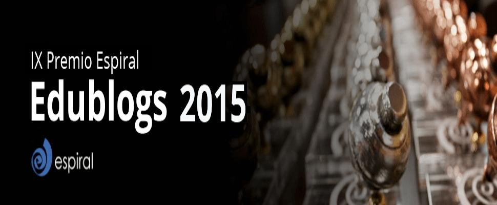 """Finalista de los """"Premios Espiral Edublogs 2015″"""