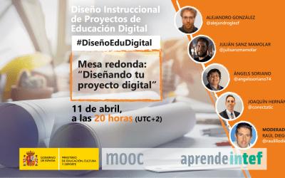 Directo INTEF «Diseñando tu proyecto digital»