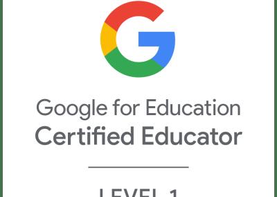 Google Certified Educator – Level 1