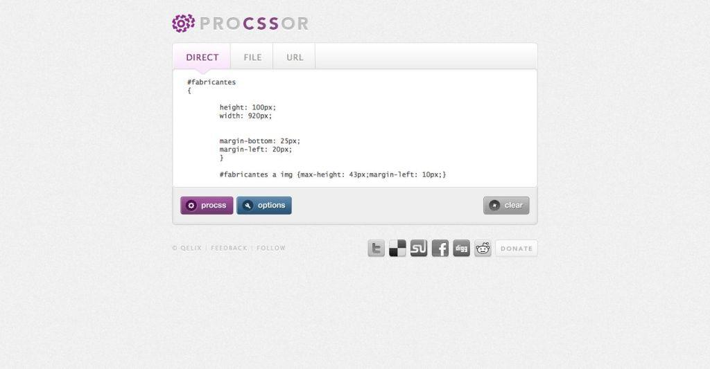 proCSSor, un estilizador de hojas de estilo