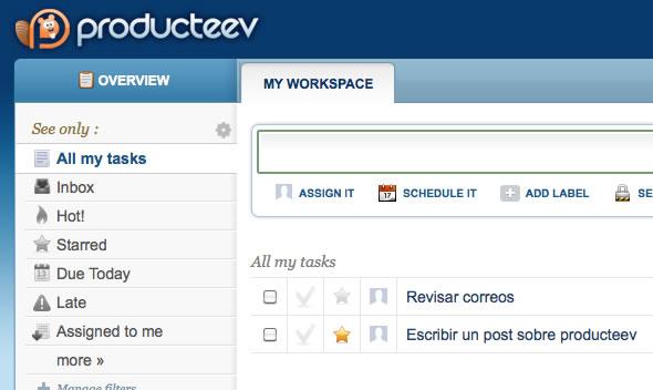 Producteev. Gestiona tu tiempo, tareas y proyectos de forma colaborativa