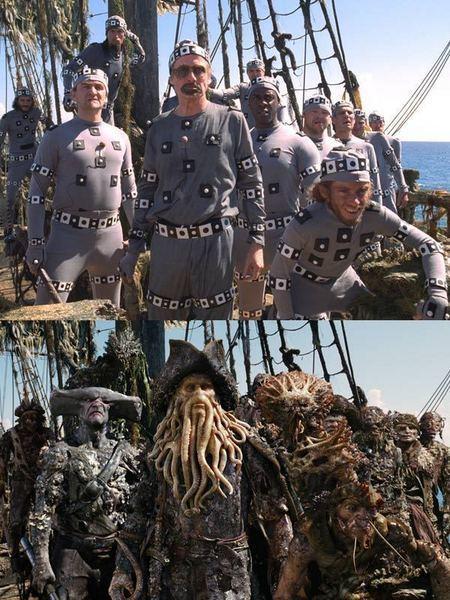 Piratas del Caribe (Antes y Despues)