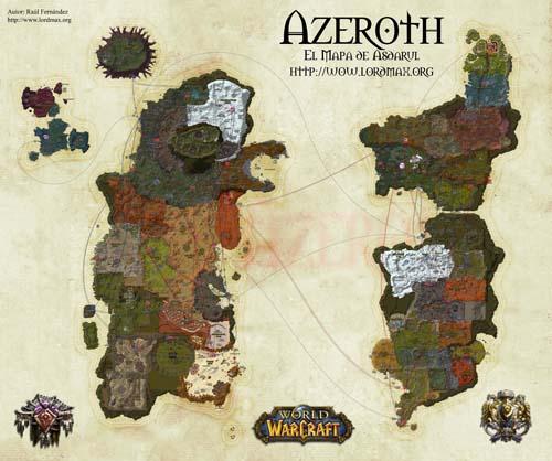El mapa de Azeroth, descarga gratuita
