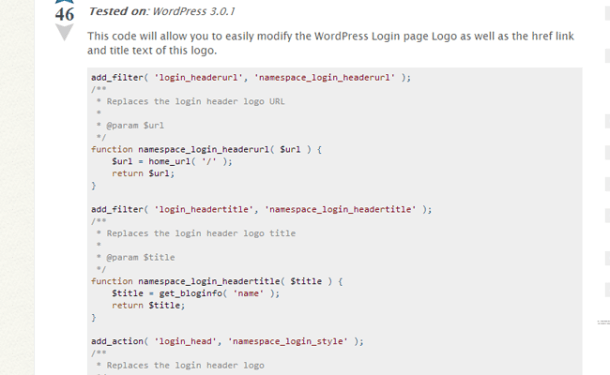 wordpress functions.php file collection code snippets stack exchange