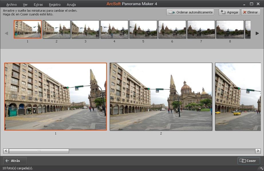 Orden de Secuencia Fotos para la Panoramica