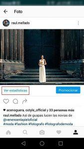 """Situación del botón """"Ver estadísticas"""" en el nuevo perfil de empresa de Instagram"""