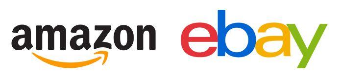 Logos de los marketplaces Ebay y Amazon