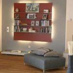 Wohnzimmer Mit Wandregal Neugestaltung Und Einrichtung