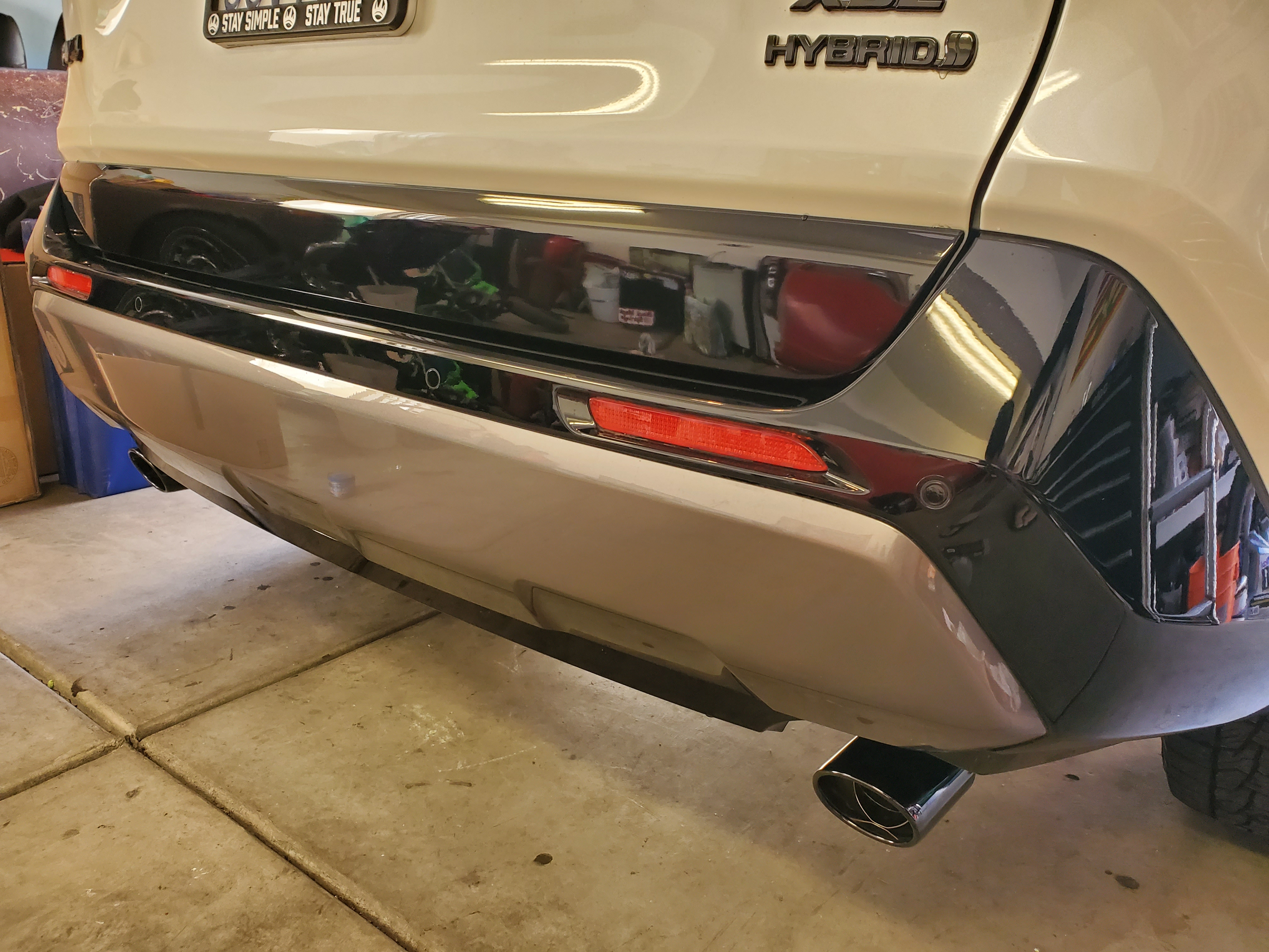 new toyota oem blacked out exhaust tips