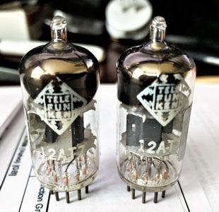 Telefunken ECC81 12AT7 Tektronix pair