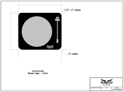 Raven Audio Turntable Concept Drawing Black