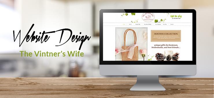 The Vintner's Wife Website Design