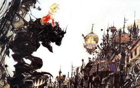 Final Fantasy VI Box Art by Amano