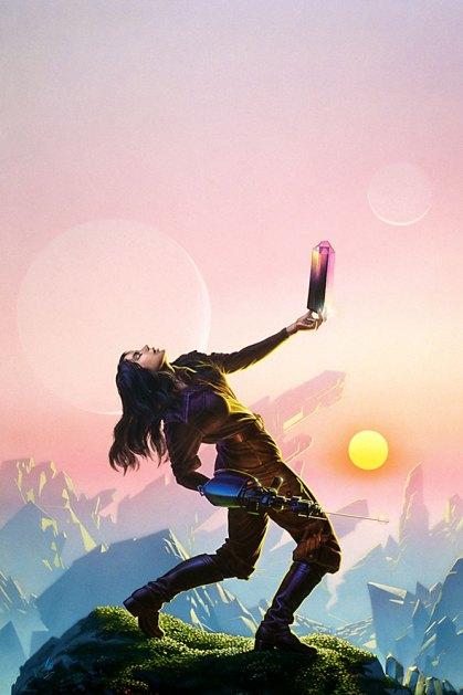 Crystal Singer, art by Michael Whelan