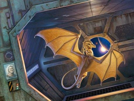 Dragon Aboard, artwork by Michael Whelan