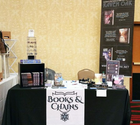 Books and Chains booth Anglicon 2016
