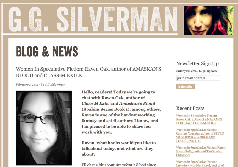 Women in Speculative Fiction Interview