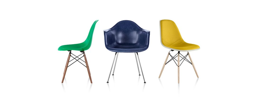 Eames Molded Fiberglass Chairs