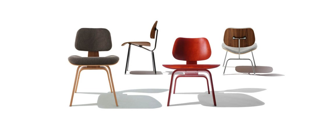 Eames molded plywood lounge chairs