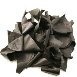 Assorted Black Leather Scraps