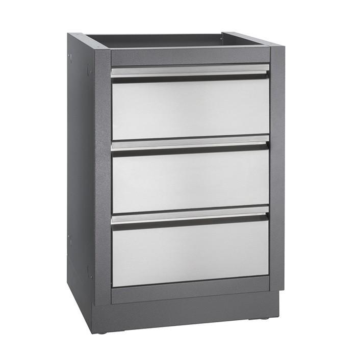 meuble de rangement 2 tiroirs pour cuisine exterieure napoleon