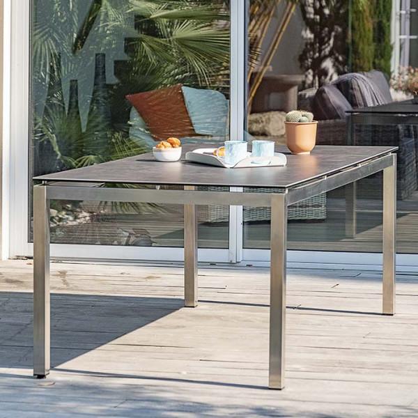 table de jardin paris garden torino 200 cm plateau ceramique